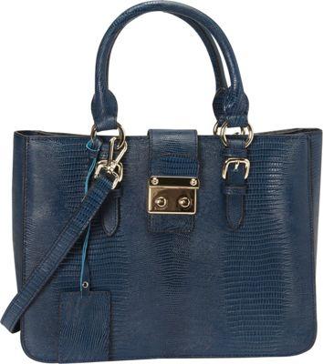 Donna Bella Designs Elly Tote Navy Blue - Donna Bella Designs Leather Handbags