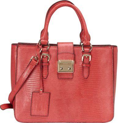 Donna Bella Designs Elly Tote Red - Donna Bella Designs Leather Handbags