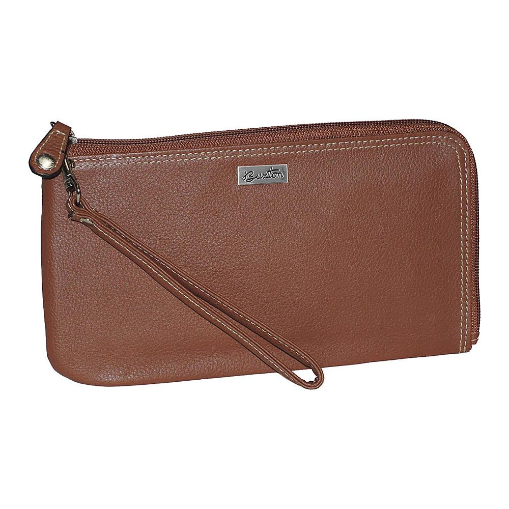 Buxton Westcott RFID L-Zip Expandable Wristlet Tan - Buxton Womens Wallets - Women's SLG, Women's Wallets