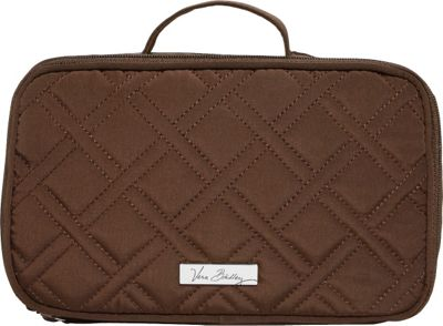 Vera Bradley Blush & Brush Makeup Case Espresso - Vera Bradley Ladies Cosmetic Bags