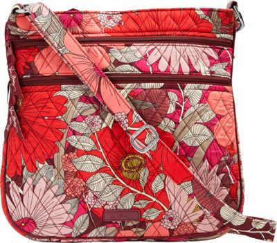 Vera Bradley Triple Zip Hipster- Retired Prints Bohemian Blooms - Vera Bradley Fabric Handbags