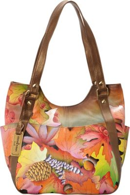 Anuschka Multi-Pocket Hobo Fall Fiesta - Anuschka Leather Handbags