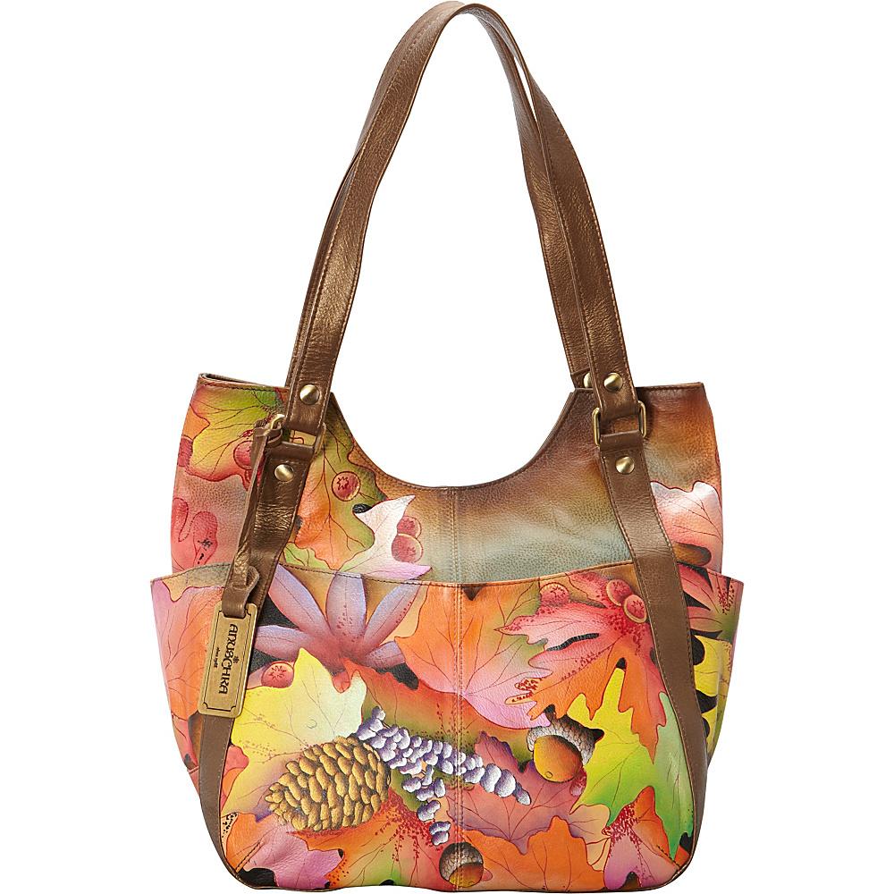 Anuschka Multi Pocket Hobo Fall Fiesta Anuschka Leather Handbags