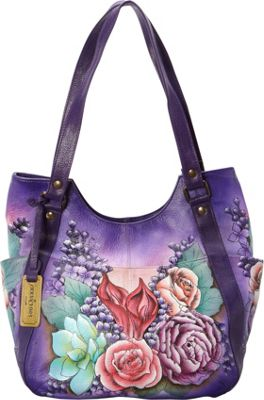 Anuschka Multi-Pocket Hobo Lush Lilac - Anuschka Leather Handbags