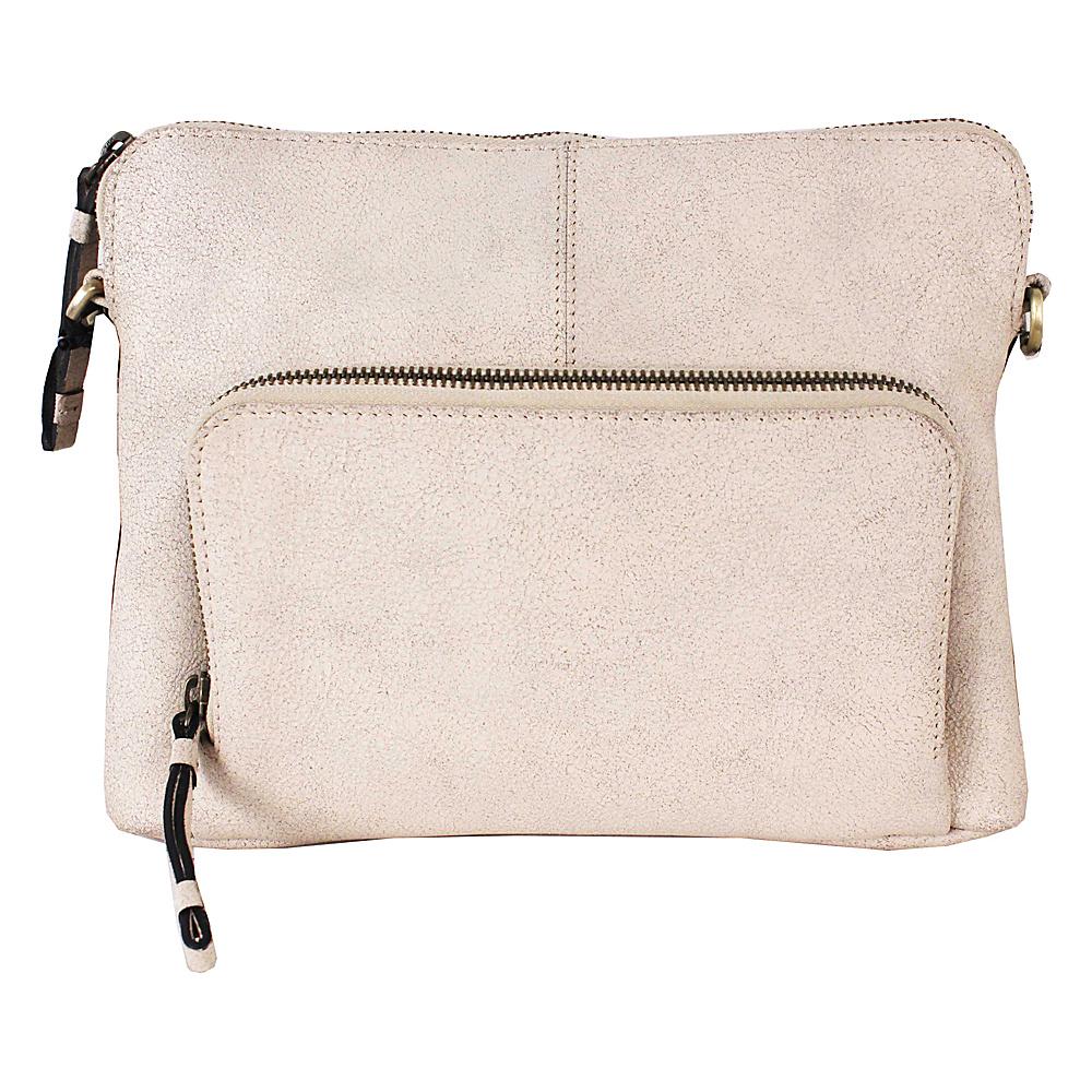 Latico Leathers Brooklyn Crossbody Crackle White - Latico Leathers Leather Handbags - Handbags, Leather Handbags