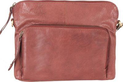 Latico Leathers Brooklyn Crossbody Glove Wine - Latico Leathers Leather Handbags