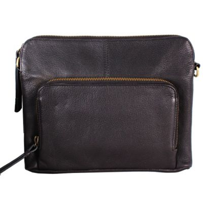 Latico Leathers Brooklyn Crossbody Pebble Black - Latico Leathers Leather Handbags