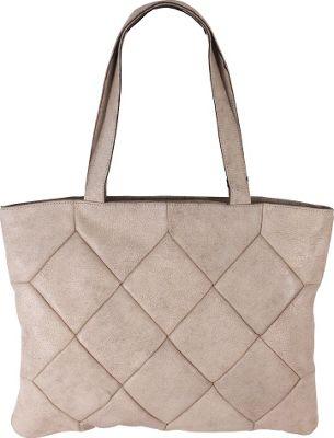 Latico Leathers Elizabeth Tote Crackle White - Latico Leathers Leather Handbags