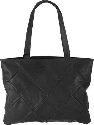 Latico Leathers Elizabeth Tote Pebble Black - Latico Leathers Leather Handbags