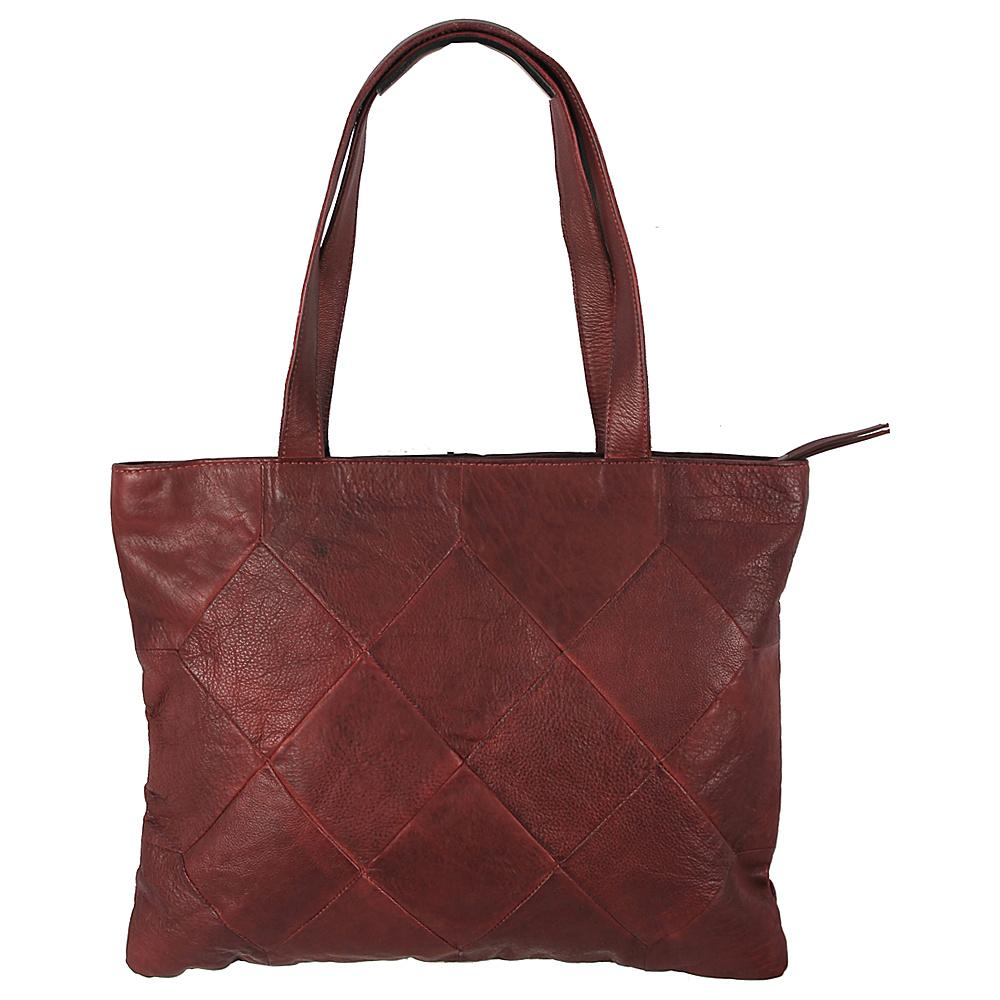 Latico Leathers Elizabeth Tote Crinkle Burgundy - Latico Leathers Leather Handbags - Handbags, Leather Handbags