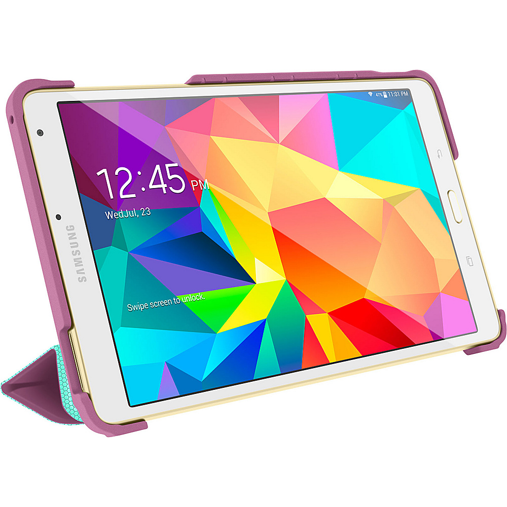 rooCASE Origami 3D Slim Shell Folio Case Cover for Samsung Galaxy Tab S 8.4 SM T700 Radiant Orchid Mint Candy rooCASE Electronic Cases