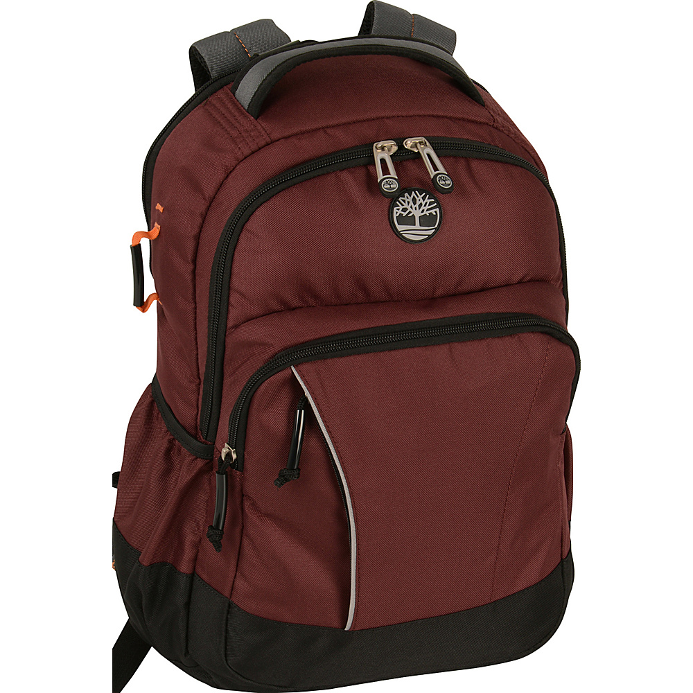 "Timberland Danvers River 17"" Backpack Chocolate Truffle/Grey - Timberland School & Day Hiking Backpacks"