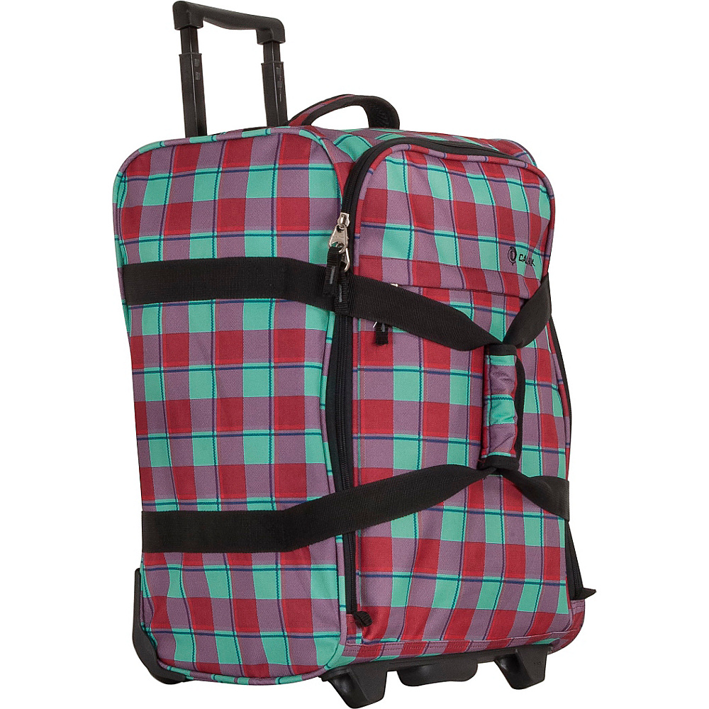 CalPak Rover Travel Duffel Bubble Gum Plaid CalPak Travel Duffels
