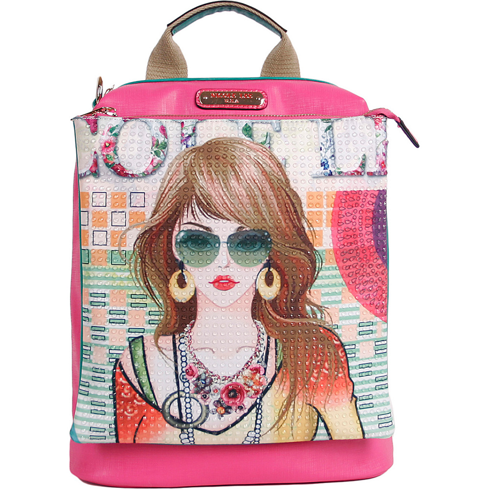 Nicole Lee Suzy Print Convertible Backpack Purse Suzy Nicole Lee Manmade Handbags