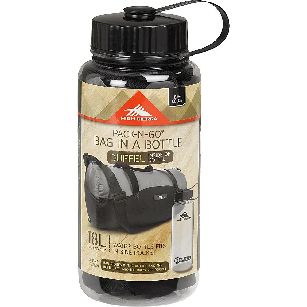 High Sierra 18L Packable Duffel In A Bottle BRICK RED/CARMINE/RED LINE - High Sierra Lightweight Packable Expandable Bags