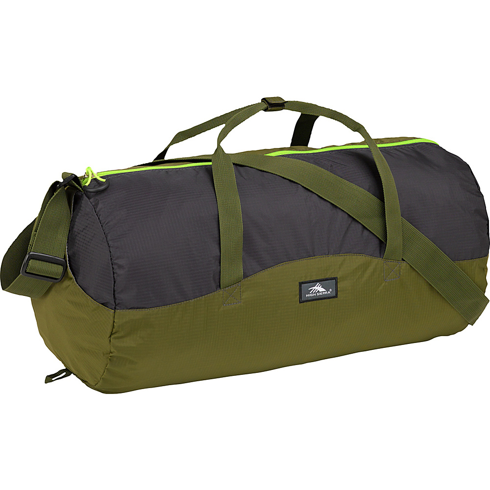 High Sierra 18L Packable Duffel In A Bottle MOSS/MERCURY/CHARTREUSE - High Sierra Lightweight packable expandable bags