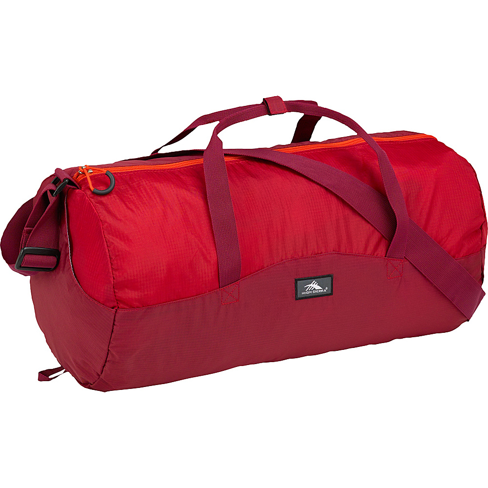 High Sierra 18L Packable Duffel In A Bottle BRICK RED/CARMINE/RED LINE - High Sierra Lightweight packable expandable bags