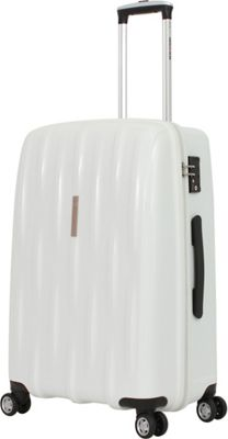 SwissGear Travel Gear SwissGear Travel Gear 24 inch Hardside Spinner White - SwissGear Travel Gear Hardside Checked
