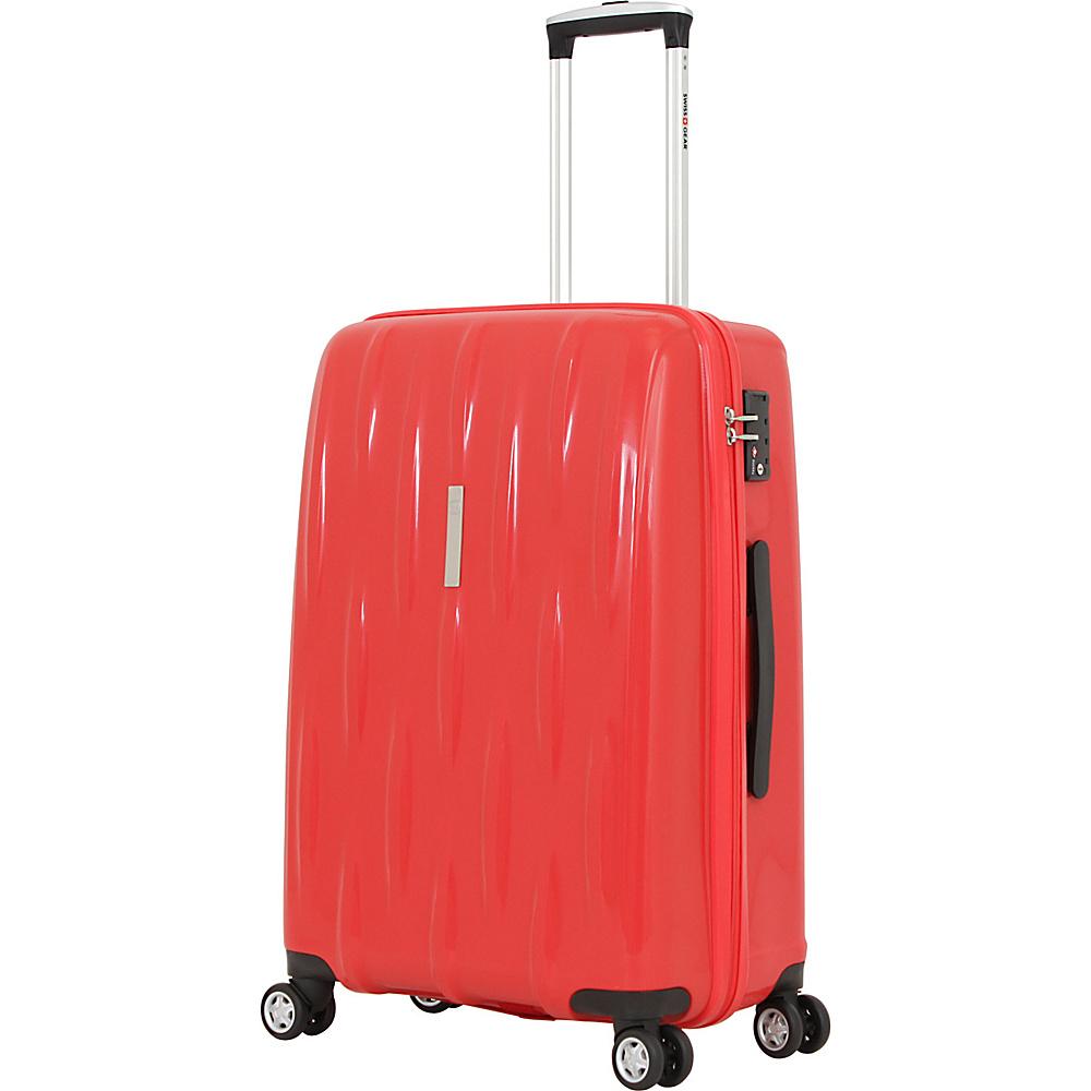 SwissGear Travel Gear 24 Hardside Spinner Orange Red SwissGear Travel Gear Hardside Checked