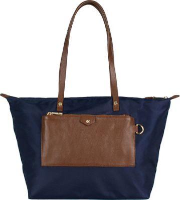 Boulevard Baylee Short Tote Navy - Boulevard Fabric Handbags