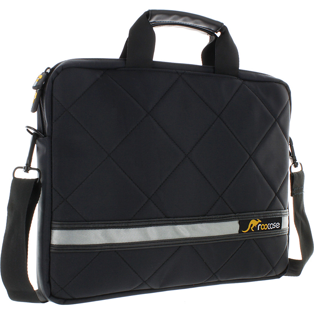 rooCASE Travel Mate 13.3 Messenger Bag Notebook Carrying Sleeve Case for Laptop Macbook Pro Air Black rooCASE Other Men s Bags