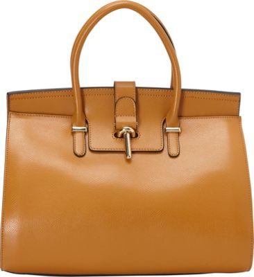 Vicenzo Leather Preston Leather Satchel Brown - Vicenzo Leather Leather Handbags