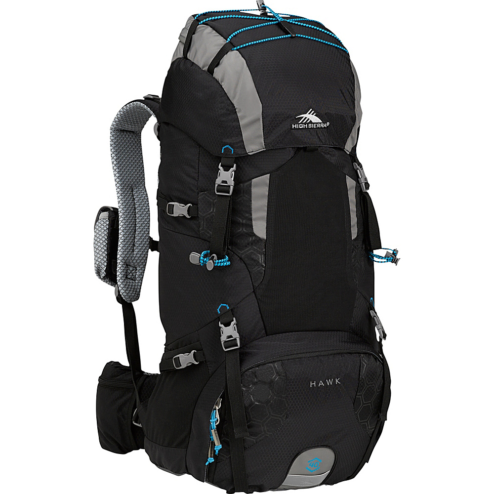 High Sierra Hawk 40 Frame Pack BLACK/CHARCOAL/POOL - High Sierra Day Hiking Backpacks