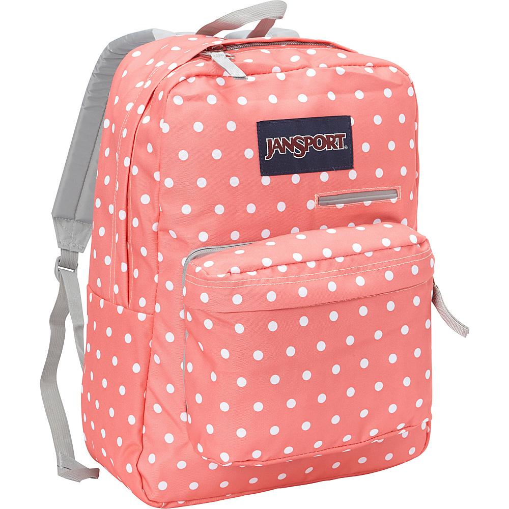 JanSport Digibreak Laptop Backpack Coral Sparkle / White Dots - JanSport Laptop Backpacks - Backpacks, Laptop Backpacks