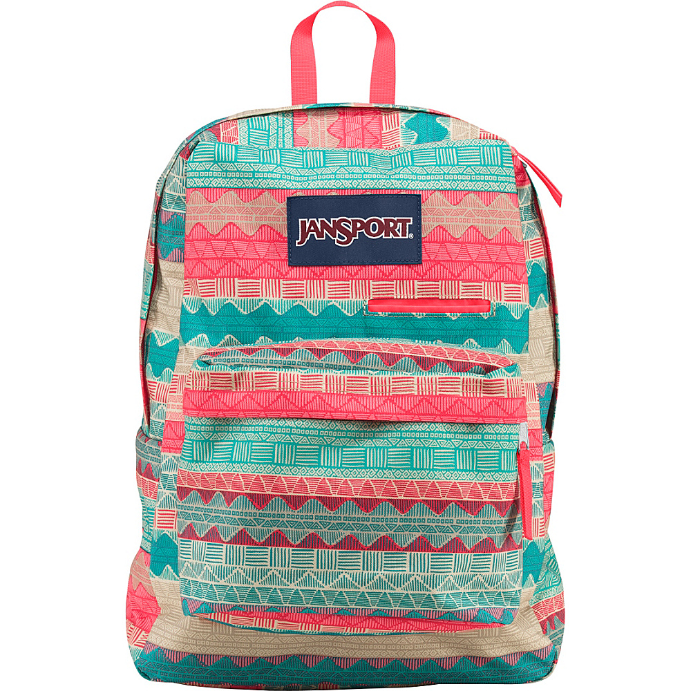 JanSport Digibreak Laptop Backpack Malt Tan Boho Stripe - JanSport Laptop Backpacks - Backpacks, Laptop Backpacks