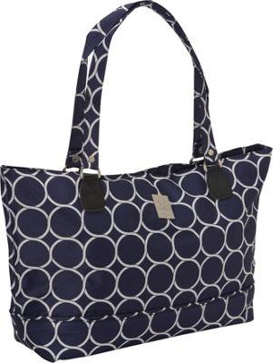 Jenni Chan Aria Park Ave Computer Tote Navy - Jenni Chan Fabric Handbags