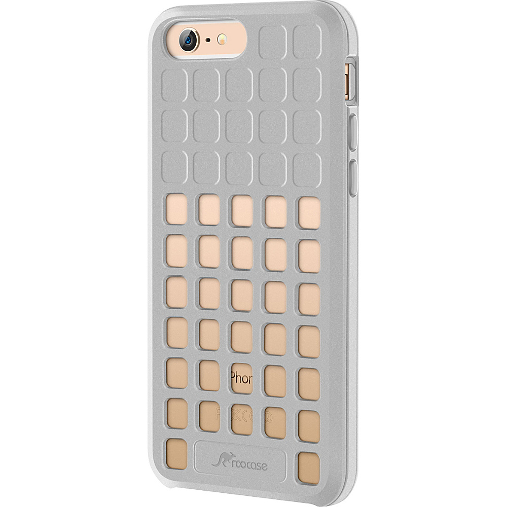 rooCASE Slim Fit Quadric TPU Case Protective Cover for iPhone 6 6s 4.7 Silver rooCASE Electronic Cases