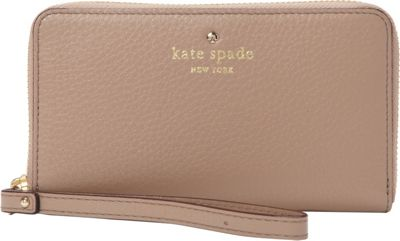 kate spade new york Cobble Hill Medium Lacey Wristlet Warm Putty - kate spade new york Designer Handbags