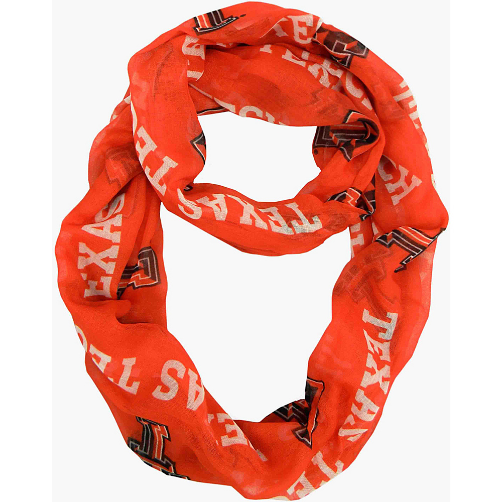 Littlearth Sheer Infinity Scarf - Big 12 Teams Texas Tech University - Littlearth Hats/Gloves/Scarves - Fashion Accessories, Hats/Gloves/Scarves