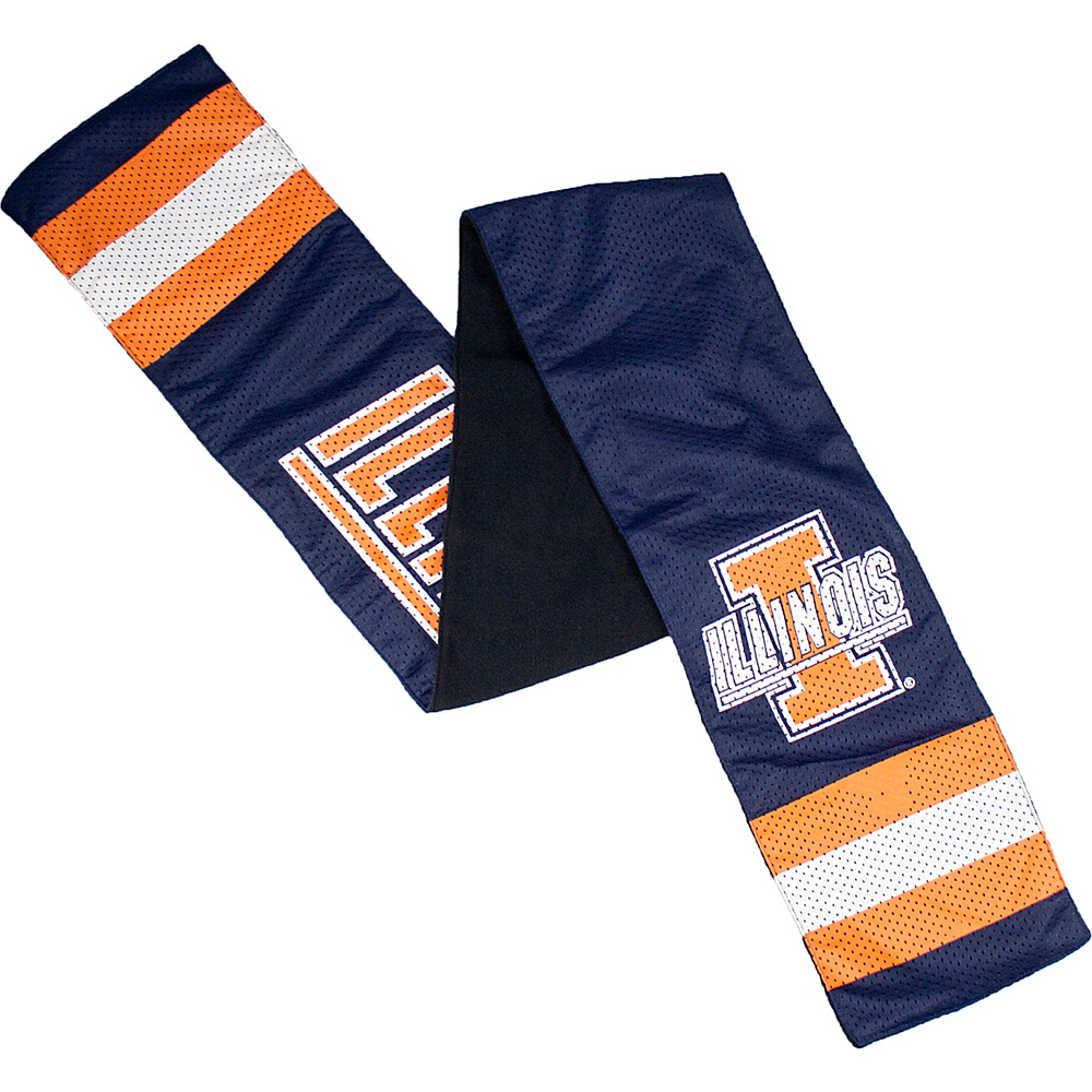 Littlearth Jersey Scarf Big Ten Teams Illinois U of Littlearth Hats Gloves Scarves
