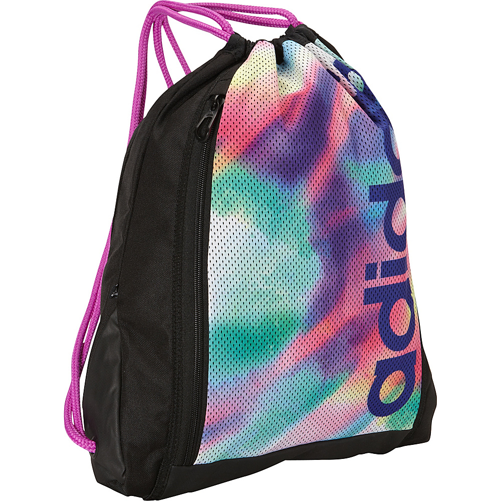adidas Thunder Sackpack Sunlight Camo/Flash Pink/Night Flash - adidas School & Day Hiking Backpacks