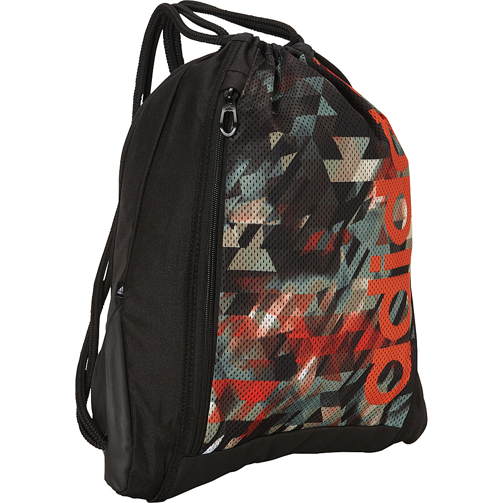 adidas Thunder Sackpack Base Green/Energy Camo/Solar Red - adidas School & Day Hiking Backpacks