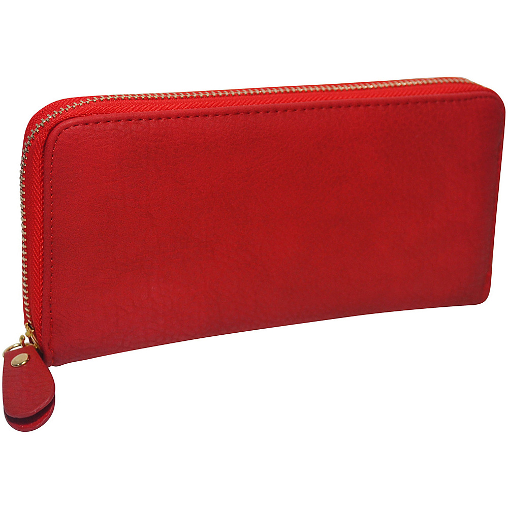 R R Collections Single Zip Around Ladies Wallet RED R R Collections Women s Wallets