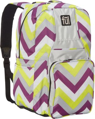 ful Stretto Backpack Purple Yellow - ful Everyday Backpacks