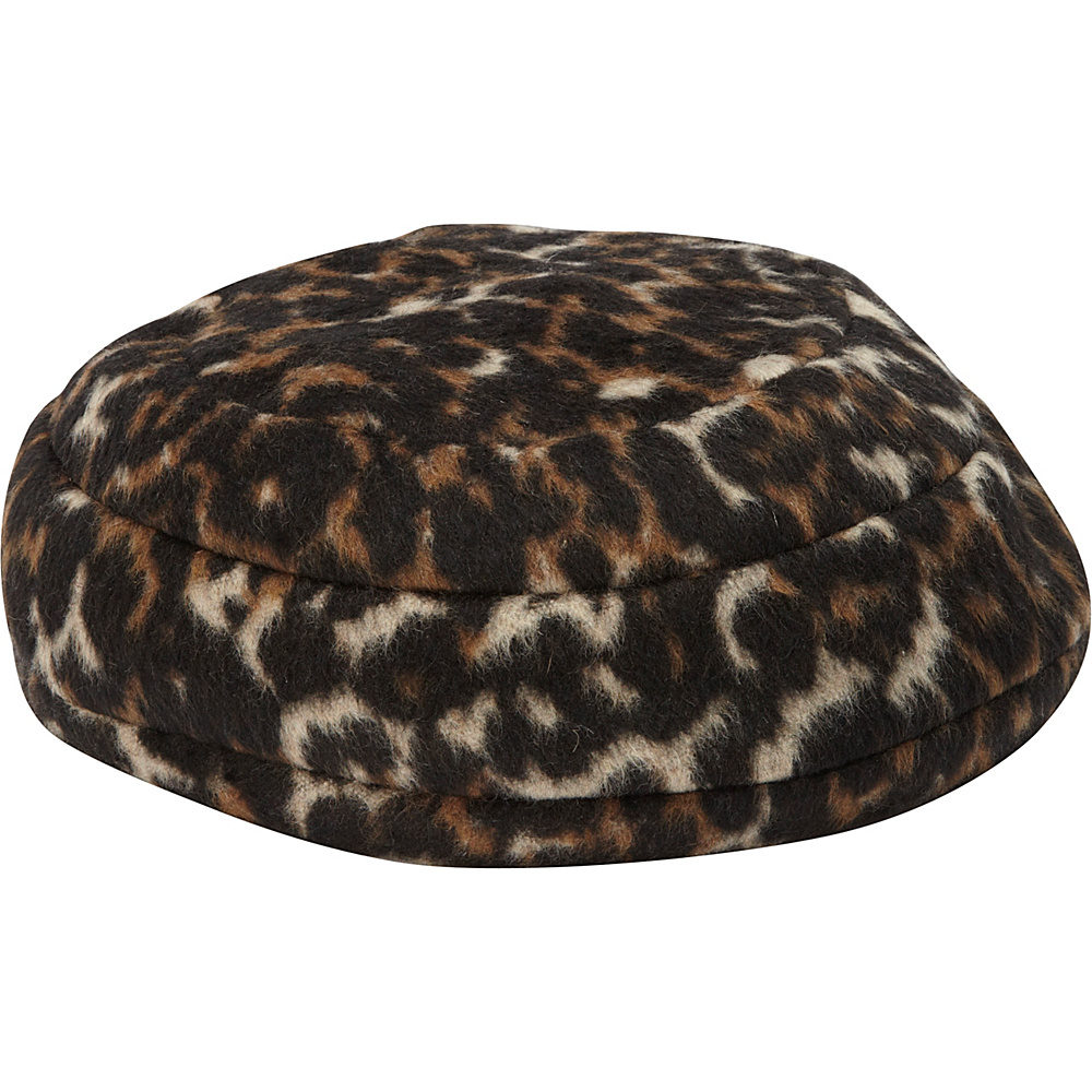 Betmar New York Lali Beret Leopard Betmar New York Hats Gloves Scarves