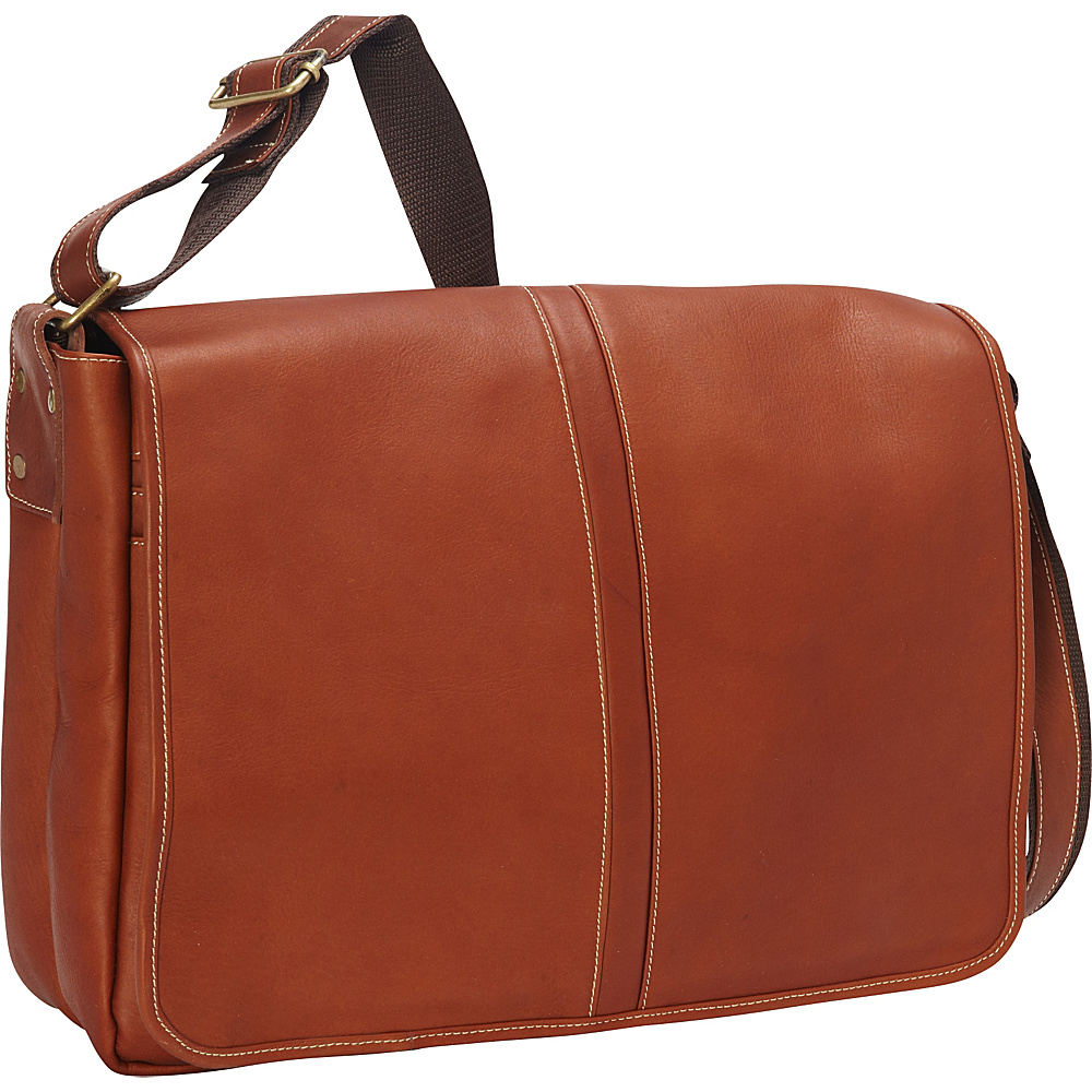 Latico Leathers Arcadia Laptop Messenger Natural - Latico Leathers Messenger Bags - Work Bags & Briefcases, Messenger Bags