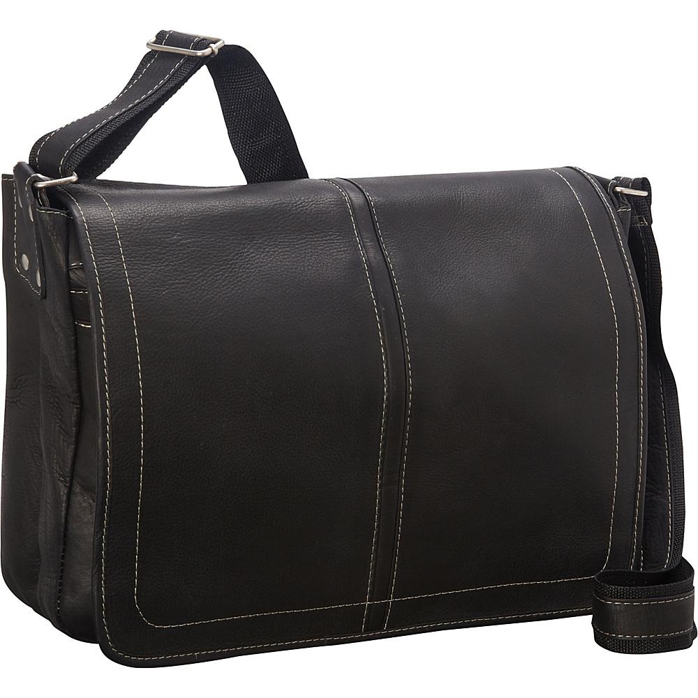 Latico Leathers Arcadia Laptop Messenger Black - Latico Leathers Messenger Bags - Work Bags & Briefcases, Messenger Bags