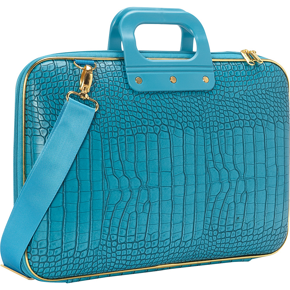 Bombata Gold Cocco 15 inch Laptop Case Turquoise Bombata Non Wheeled Business Cases