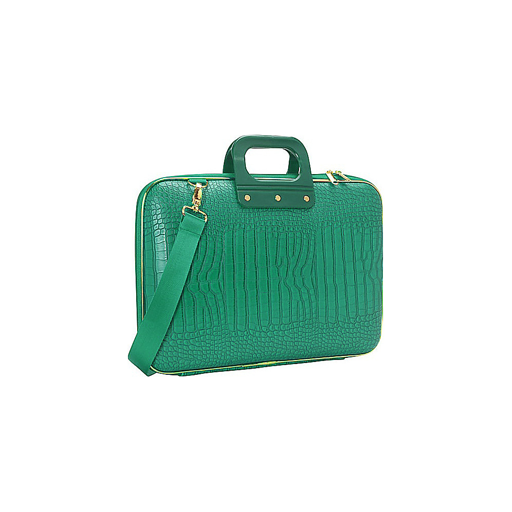 Bombata Gold Cocco 15 inch Laptop Case Emerald Green Bombata Non Wheeled Business Cases