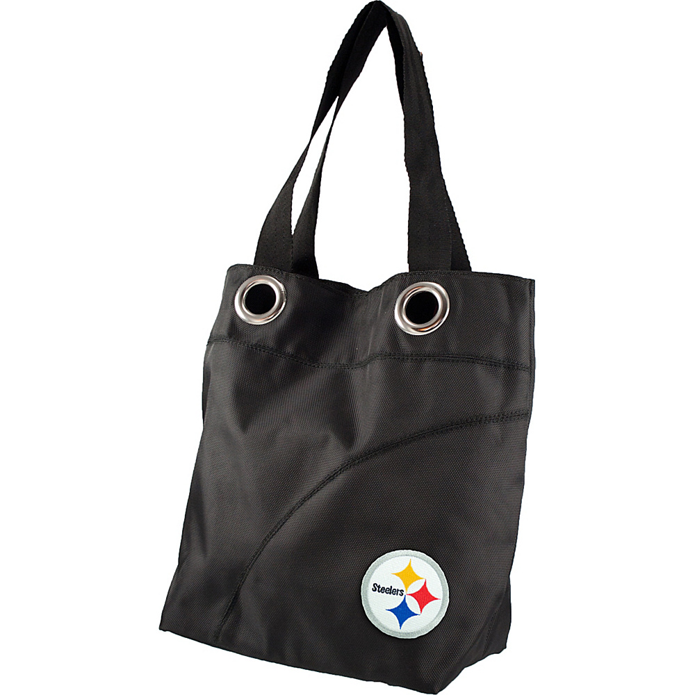 Littlearth Color Sheen Tote - NFL Teams Pittsburgh Steelers - Littlearth Fabric Handbags - Handbags, Fabric Handbags