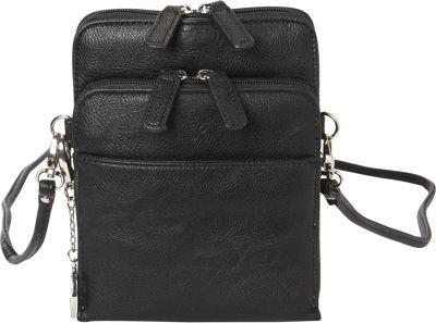 La Diva Extra Small Crossbody with Organizer Black - La Diva Manmade Handbags