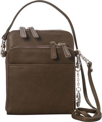 La Diva Extra Small Crossbody with Organizer Olive - La Diva Manmade Handbags