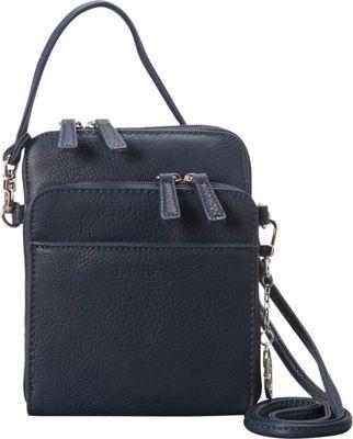 La Diva Extra Small Crossbody with Organizer Navy - La Diva Manmade Handbags