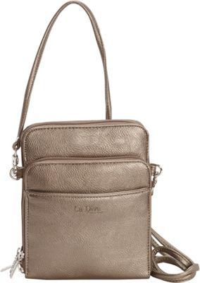 La Diva Extra Small Crossbody with Organizer PEWTER - La Diva Manmade Handbags
