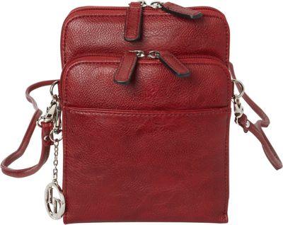 La Diva Extra Small Crossbody with Organizer Red - La Diva Manmade Handbags