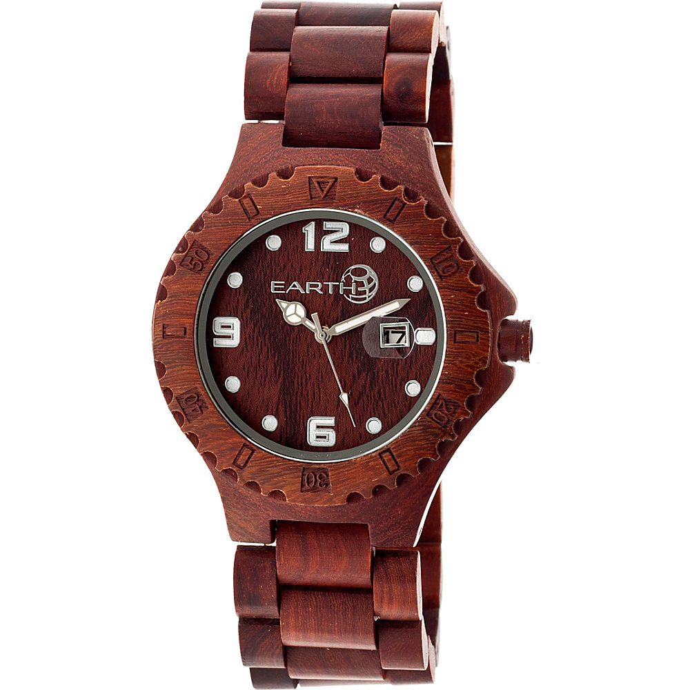Earth Wood Raywood Watch Red Rosewood Earth Wood Watches